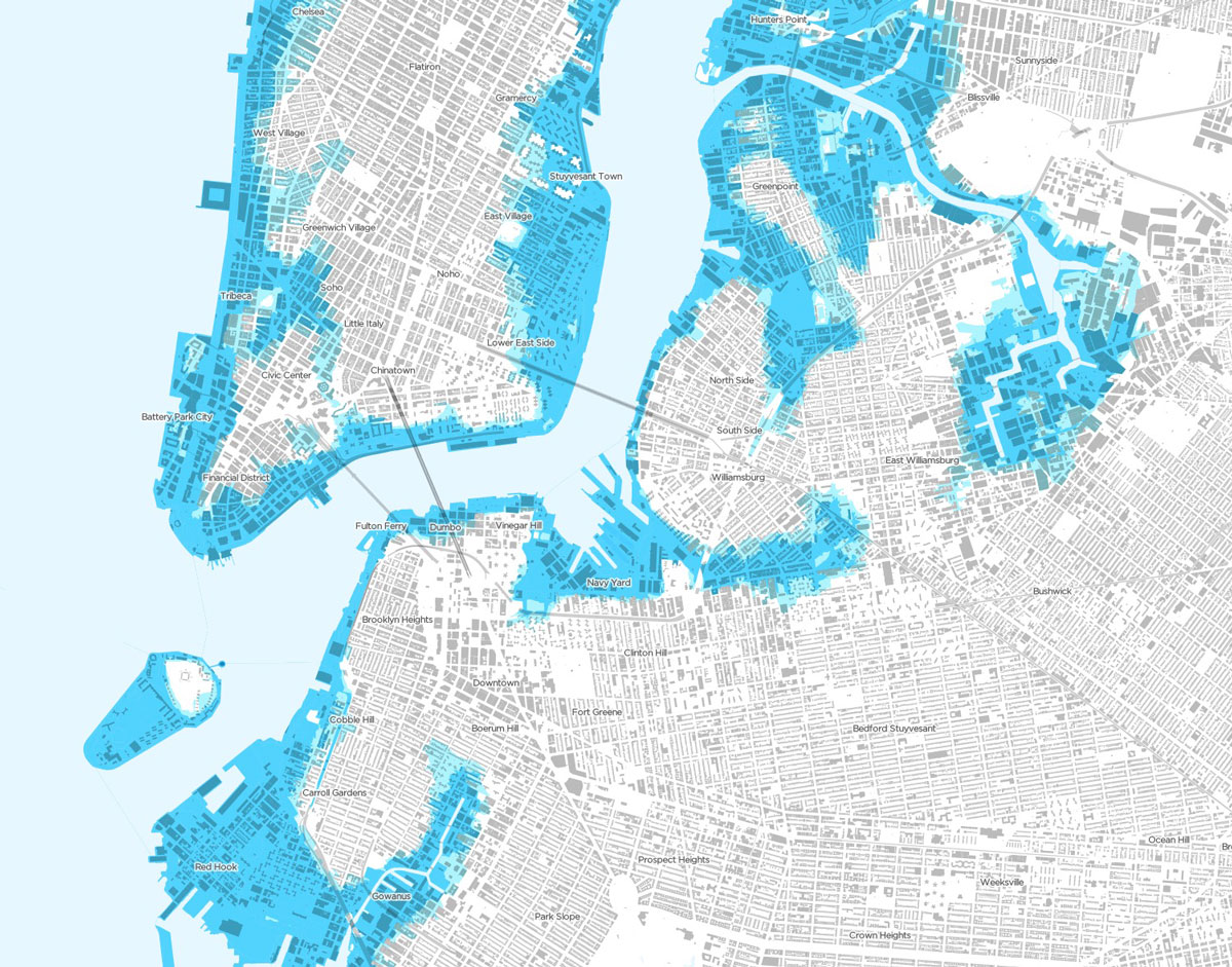 map of New York City floodplains