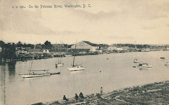 postcard of waterfront